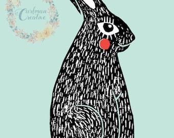 Bunny Wall Print