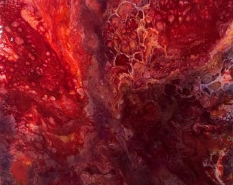 HEROIN - acrylic pour painting