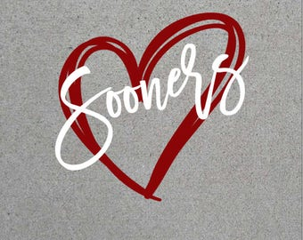 Sooners Heart SVG/PNG/DXF