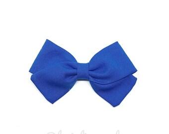 Barrette girl or baby blue bow headband