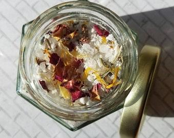 Floral Bath Salts-Floral Bath Tea-Bath Salts-Natural Bath Salts- Aromatherapy Bath- Gifts for Her-Rose and Lavender-Soothing Bath Soak