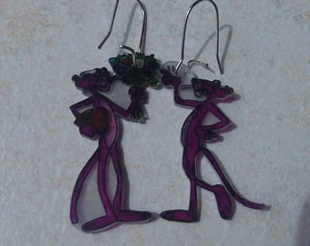 Pink Panther earrings