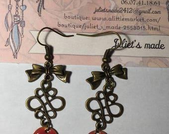 romantic pink earrings