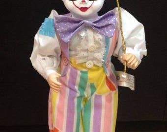 Creepy Clown Doll with Umbrella