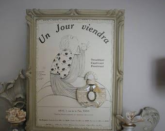 Vintage perfume on frame