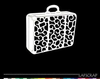 1 cut scrapbooking scrap ticket holiday suitcase travel embellishment die cut scrap album deco