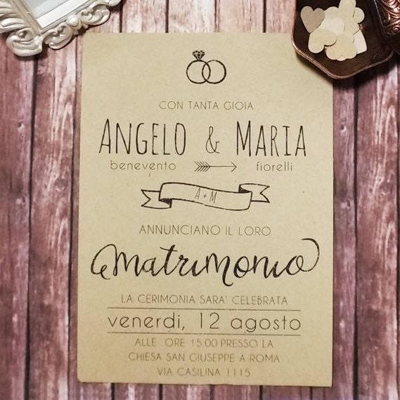 Matrimonio In Stile Country : Partecipazioni matrimonio stile country chic inviti e