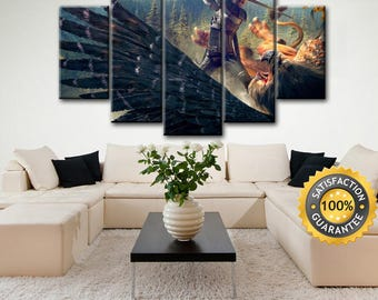 Witcher canvas, Wiedźmin canvas, Grifon canvas, Gerald of Rivia, Geralt canvas, Gerald canvas, Witcher wall art, White wolf canvas, Geralt
