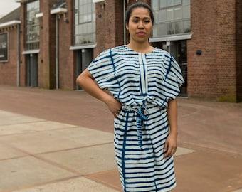 Dress Indigo Zebra