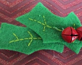 Christmas Holly Barrette JH8-5