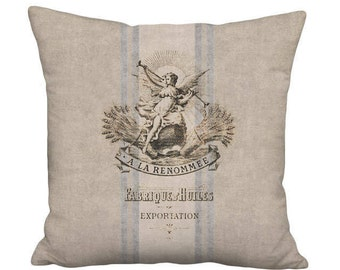 Small Pillow Cover - Pillow - Renommee Rustic French Country Farmhouse - 12 x 12 or 14 x 14 Inch