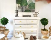 Miniature painting - topiary - topiaries - Dollhouse original art - Diorama - 1:12 scale