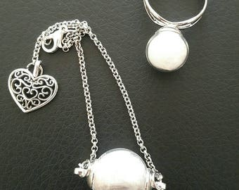 Silver Angel bubble set, bracelet and ring
