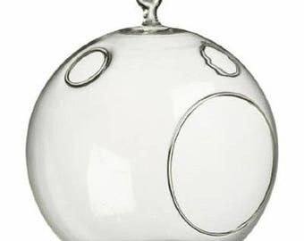 """Round 4"""" Glass Terrarium with Minor Imperfections / Closeout Price Glass"""