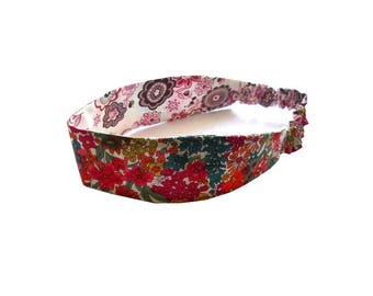 Pink taupe headband liberty Margaret Annie and Lauren reversible size in OPTION, liberty fabric headband