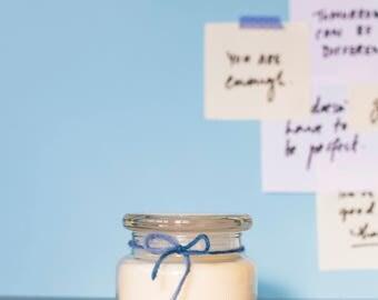 Betley | Medium Pink Lotus | Natural Soy Candle | Handmade | Social Enterprise
