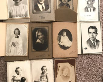38 cabinet cards, vintage photos, photography, scrap booking, collage, paper crafts, mixed media, instant collection