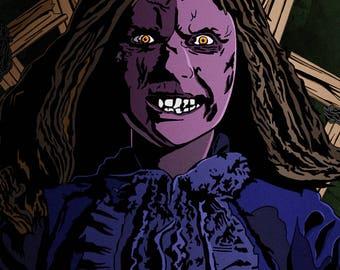 Limited Edition Regan Exorcist Horror Art Poster 20x30