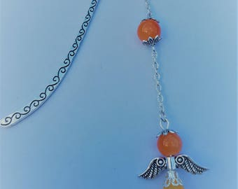 Orange small Angel bookmark