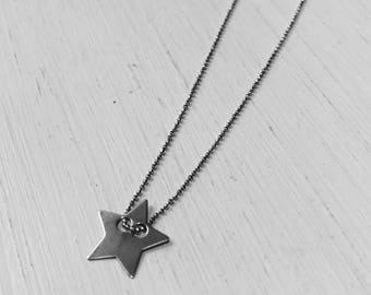 Filigree 925 sterling silver necklace with star Pendant