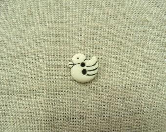 Buttons decorative child - duck pattern