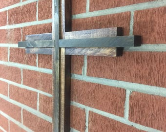 Rustic cross / Wooden oldfashined cross / wooden cross / decorative cross / 3D cross / Cross Wall / Cross Wall Decor / Rustic Home Decor