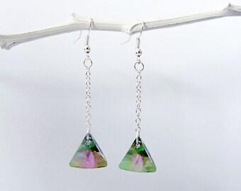 Swarovski triangle earrings