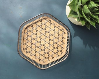 Braided hex tray, Japan 70 years