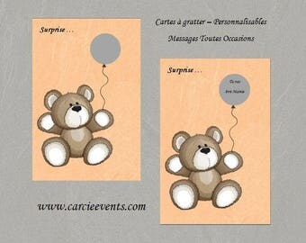 """Scratch - customizable - Message card all occasions - pattern """"Nick"""""""