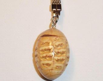 Ear of corn rugby ball keychain