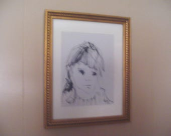Original Signed Pen& Ink By GINO F. HOLLANDER 12 3/4 in X 15 /3/4 in