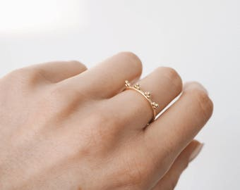 Dainty Ring - Gold plated - Sterling silver - Delicate Ring - Stacking Ring - Christmas Gift - R008