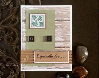 Farmhouse card Wood grain card Rustic card For You Rustic greeting card FixerUpper card Shiplap card Any Occasion Card Barnwood card