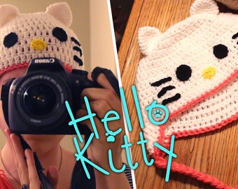 Crochet Hello Kitty Hat/Beanie Sized for Women/Children