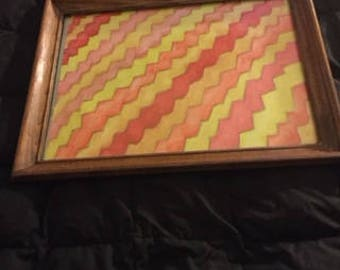 This is a colorful zigzag design.