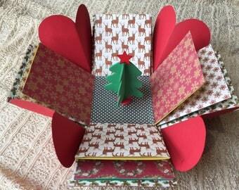 Christmas Handmade Explosion Box