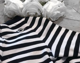 Classic Navy & White Striped Dog Jumper