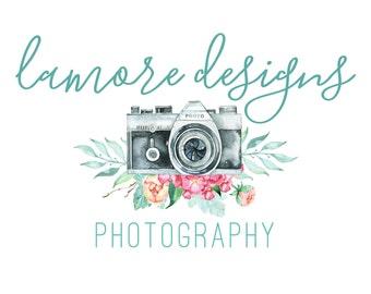 Pre-made Logo Design, Pre-made Custom Logo | Watercolor Logo | Photography Logo | Photography Watermark | Camera Logo, Modern Logo, Logo