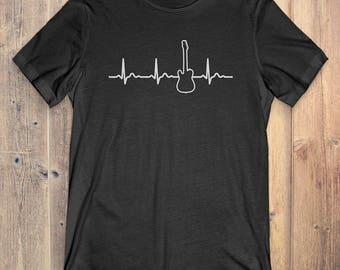 Guitar T-Shirt Gift: Guitar Heartbeat