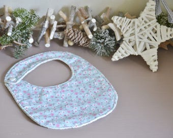 Cotton and Terry cloth bib (small size)