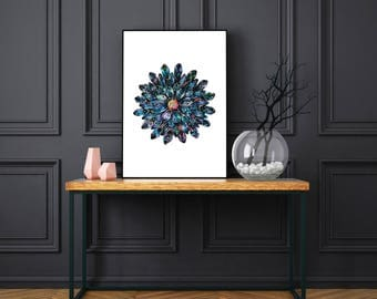 Blue Jewel Poster Print