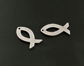"""Christian Symbol """"Fish"""", Fish pendant, Fish charm"""