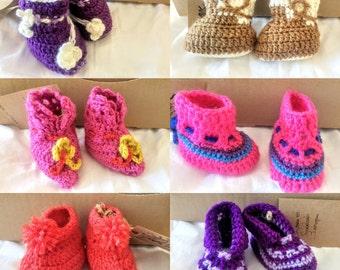 8 cm Wool Booties