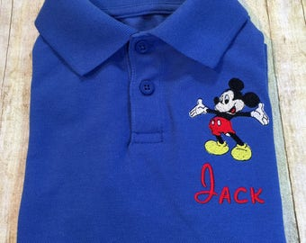 Mickey Mouse Personalized Embroidered Polo