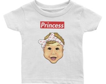 Infant Tee Supreme Font Princess Estel