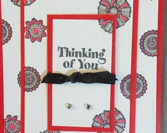 """Handmade """"Thinking of you"""" card"""