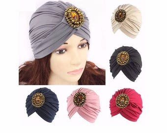 Black Turban Hat Head wrap, Handmade Turban, Twist Turban, Chemo Hat turban, Hair Loss Hat, Head Wrap, Women Turban Hat, Suncap, Vintage Hat