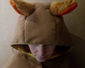 Fox hooded CAPE
