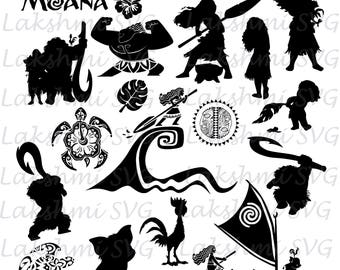 Moana svg, Moana clipart, Moana cut files, Moana svg files for silhouette, files for cricut, svg, dxf, eps, cuttable design,hawaii svg