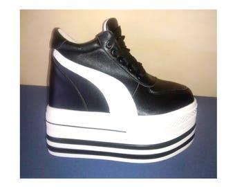 Platform boots, 90s style buffalo, swear, platform boots, platform slippers, disco, platform shoes, cyber